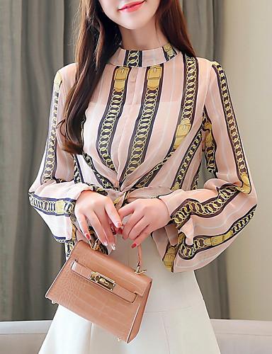 billige Dametopper-Skjorte Dame - Grafisk, Trykt mønster Grunnleggende Rosa