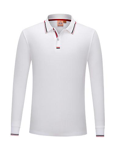 preiswerte Herren Polo Shirts-Herrn Solide - Grundlegend Polo Schwarz