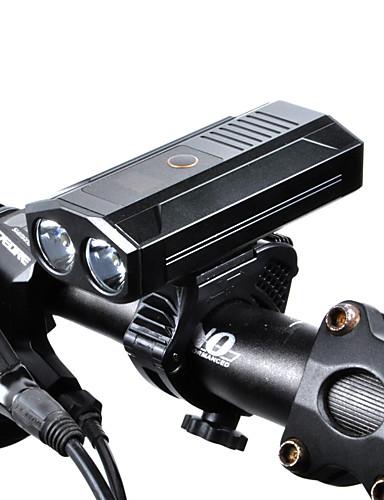 povoljno Biciklizam-LED Svjetla za bicikle Prednje svjetlo za bicikl LED Bicikl Biciklizam Okretljive slavine Izlaz za punjenje putem USB-a Punjiva Lithium-ion baterija 1600 lm punjiva baterija Bijela Biciklizam / IPX 6