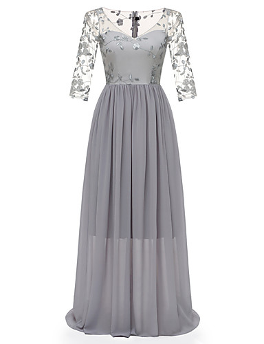 voordelige Maxi-jurken-Dames Standaard Elegant Schede Jurk - Effen Maxi