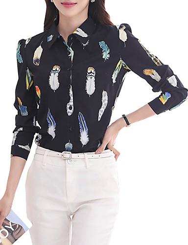 billige Dametopper-Skjorte Dame - Dyr Grunnleggende Svart