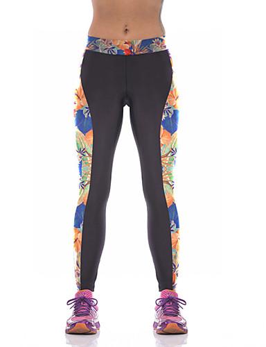 povoljno Vježbanje, fitness i joga-Žene Hlače za jogu 3D ispis Elastan Fitness Trening u teretani Tajice Odjeća za rekreaciju Prozračnost Ovlaživanje Quick dry Butt Lift Visoka elastičnost Uske