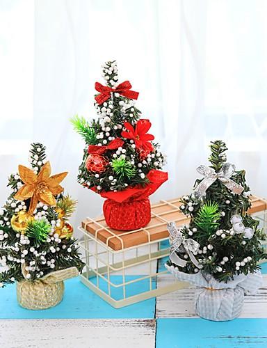 billige Julens andre ornamenter-3stk juletre 20cm nyttårs borddekorasjon mini juletre dekorasjonstre