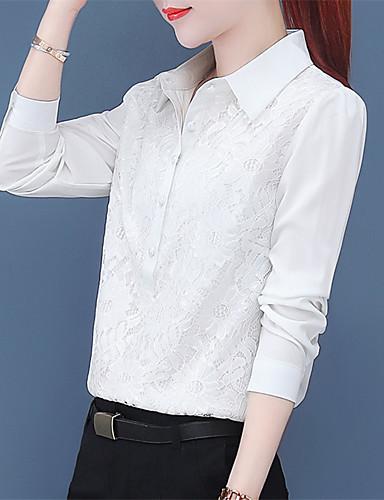 billige Dametopper-Skjorte Dame - Ensfarget, Blonde Chinoiserie Svart