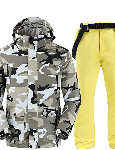 저렴한 스키 & 스노보드-남성용 스키 자켓 & 팬츠 캠핑 & 하이킹 겨울 스포츠 보온 방수 방풍 POLY 의류 세트 스키 의류
