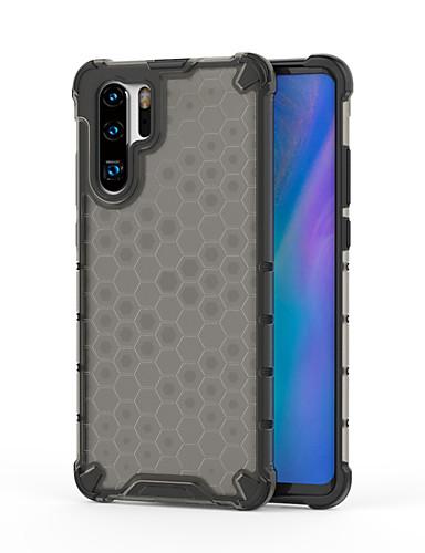 Case Kompatibilitás Huawei Huawei P30 / Huawei P30 Pro / Huawei P30 Lite Ütésálló / Minta Fekete tok Csempe / Egyszínű TPU / PC