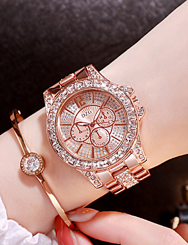 cheap Fashion Watches-Women's Luxury Watches Diamond Watch Gold Watch Japanese Quartz Stainless Steel Silver / Gold / Rose Gold Analog Ladies Charm Fashion Bling Bling - Rose Gold Gold Silver