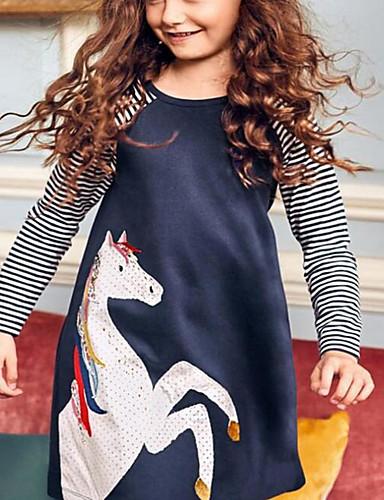 cheap Unicorn Dresses-Kids Girls' Cartoon Dress Light Blue