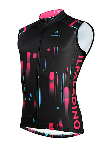 povoljno Odjeća za vožnju biciklom-ILPALADINO Muškarci Bez rukávů Biciklistički prsluk Crn Bicikl UV otporan Zima Sportski Odjeća / Mikroelastično