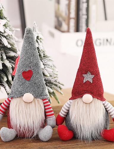 preiswerte Neue im Sortiment-weihnachtsmann weihnachtsschmuck gesichtslose puppe gnome plüsch home party dekoration neujahrsgeschenk