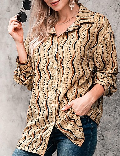billige Dametopper-Skjorte Dame - Stripet Lilla