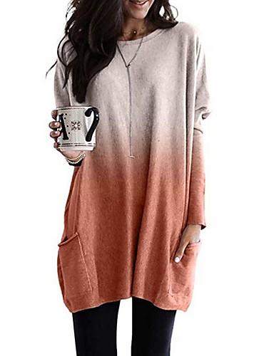 billige T-skjorter til damer-T-skjorte Dame - Fargeblokk Lilla