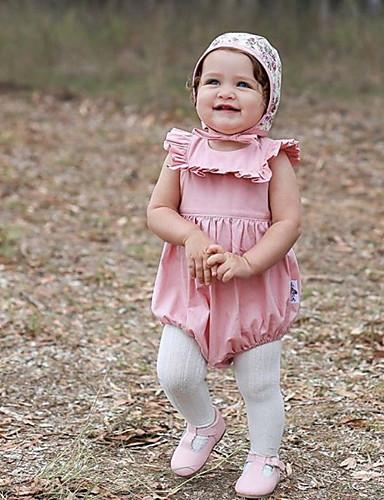 Baba Lány Aktív Egyszínű Rövid ujjú bodysuit Arcpír rózsaszín