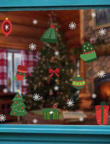 preiswerte Weihnachtswandaufkleber-Weihnachtsschmuck Fensterfolie& ampampamp aufkleber dekoration tier / gemusterte urlaub / charakter / geometrische fensteraufkleber aus pvc (polyvinylchlorid)