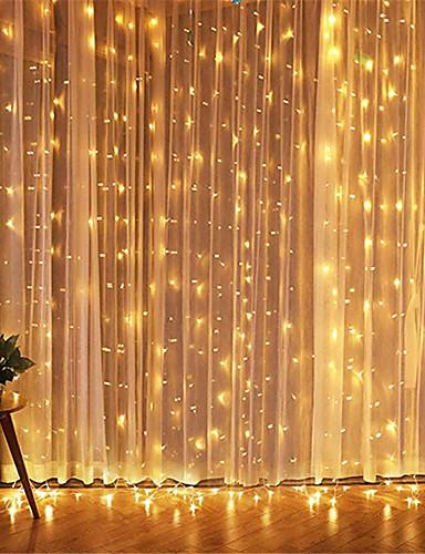 cheap 11.11 - LED String Lights Best Sale-1pcs 3*3m Led Icicle Led Curtain Fairy StringLlight Fairy Light 300 led Christmas Light for Wedding Home Window Party Decor