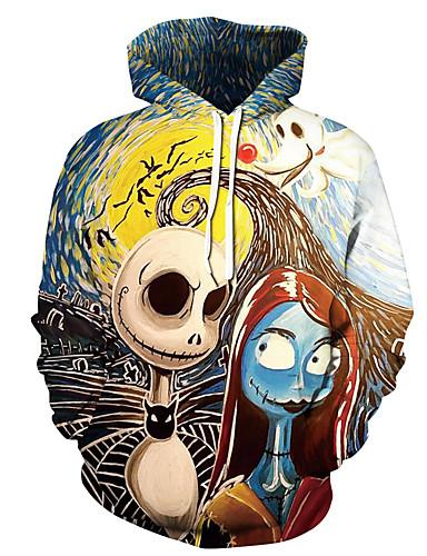 preiswerte Modische Herren-Pullover-Herrn Halloween Kapuzenshirt 3D