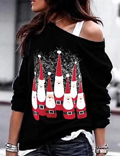 preiswerte Kitschige Weihnachtspullis-Damen Freizeit Pullover Druck