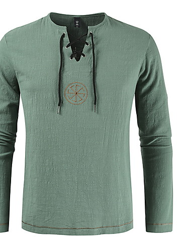 billige 3D T-skjorter til herrer-T-skjorte Herre - Ensfarget Svart