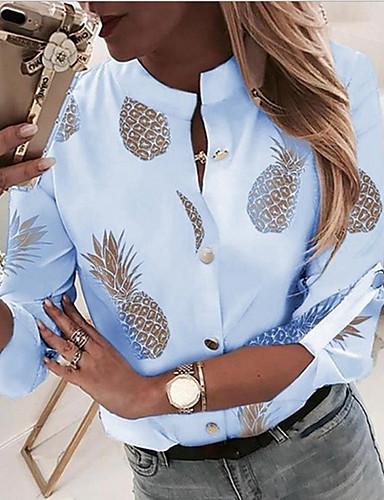 billige Skjorter til damer-Skjorte Dame - Frukt Hvit