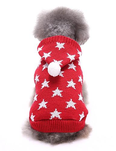 preiswerte Spielzeug & Hobby Artikel-Hunde Pullover Winter Hundekleidung Rot Blau Kostüm Corgi Beagle Shiba Inu Acrylfasern Sterne Lässig / Alltäglich XS S M L XL XXL
