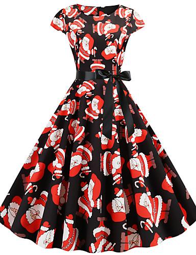 preiswerte Cosplay Kostüme-Audrey Hepburn Kleid Erwachsene Damen Retro Vintage Weihnachten Weihnachten Fest / Feiertage Polyester Schwarz Damen Karneval Kostüme