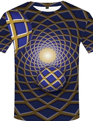 voordelige Heren T-shirts & tanktops-Heren Street chic / overdreven T-shirt Effen / Kleurenblok / Grafisch Paars