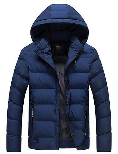 levne Pánské kabáty a parky-Pánské Jednobarevné S vycpávkou, Polyester Černá / Fialová / Žlutá US32 / UK32 / EU40 / US34 / UK34 / EU42 / US36 / UK36 / EU44