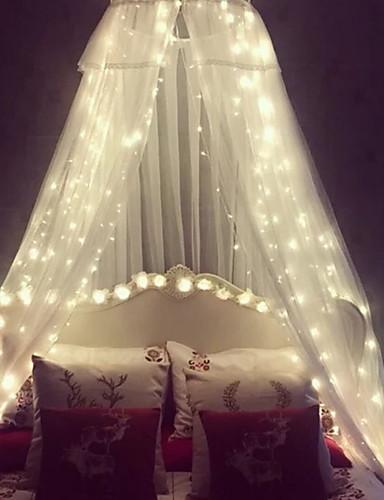 preiswerte LED-Lichter-3 * 3 m Leuchtgirlanden 300 LEDs Warmes Weiß Dekorativ 220-240 V 1 set