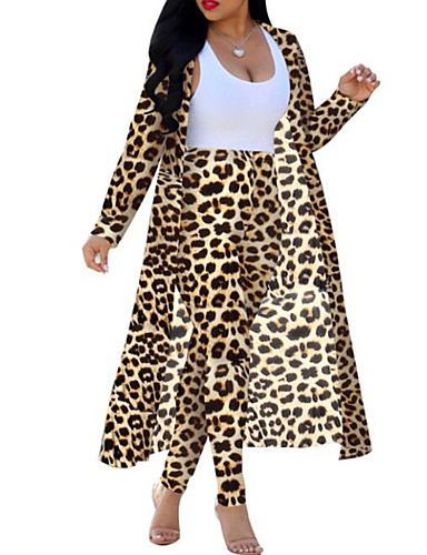 billige Todelt dress til damer-Dame Bohem / Gatemote Sett Bukse Leopard