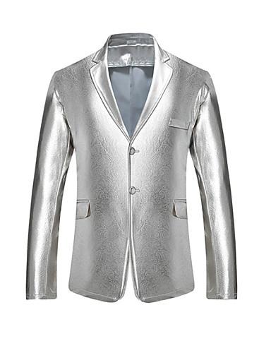 Férfi ruhák Hasított rever Gyapjú Fekete / Arany / Ezüst