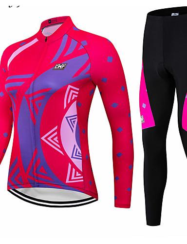 povoljno Biciklističke majice-CAWANFLY Muškarci Žene Dugih rukava Biciklistička majica s tajicama Biciklistička majica Biciklistička jakna Blue + Pink Noviteti Bicikl Biciklistička majica Majice Sportska odijela Brdski biciklizam