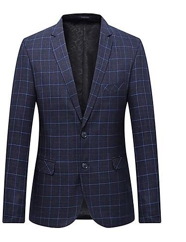 Férfi ruhák, Egyszínű Állógallér Poliészter Medence / Tengerészkék