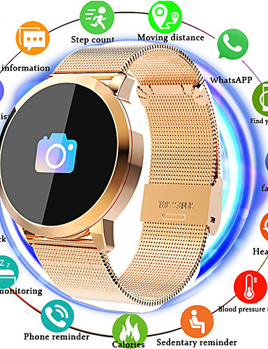 cheap Re11.11-Cool Smartwatches Selling Listing-IMOSI Q8 Smartwatch Stainless Steel BT Fitness Tracker Support Notify/ Heart Rate Monitor Sport Bluetooth Smartwatch Compatible IOS/Android Phones