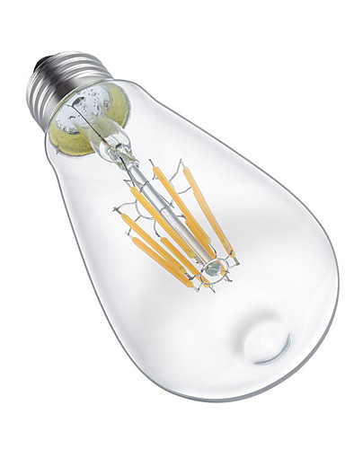 preiswerte LED-Lichter-KWB 1pc 8 W LED Glühlampen 700 lm E26 / E27 ST64 8 LED-Perlen COB Dekorativ Warmes Weiß 220-240 V 110-130 V