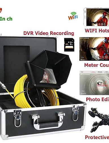 preiswerte HomeSweetHome-handheld industrie 7 zoll 23mm objektiv endoskop hd 1080p kanalrohr inspektionskamera mit meterzähler / dvr video aufnahme / wifi wireless / keyboar fotobearbeitung f9600-10m / 20m / 30m / 40m / 50m