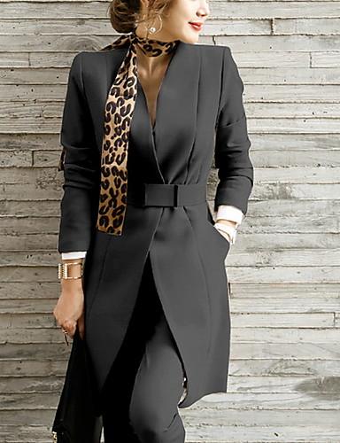 preiswerte Damen zweiteilige Anzüge-Damen Blazer - Solide Hose