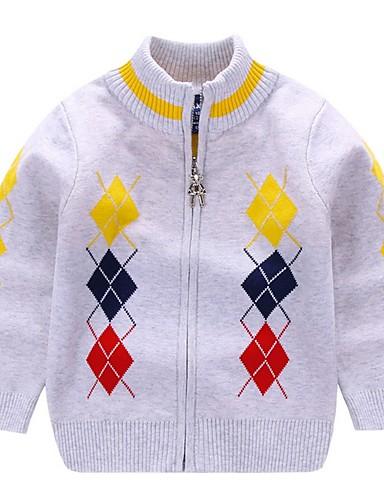Djeca Dječaci Osnovni Print Dugih rukava Džemper i kardigan Red