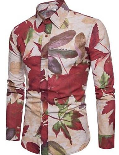 preiswerte Schöne modische Herrenhemden-Herrn Blumen Hemd Marineblau