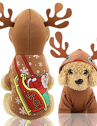 preiswerte Spielzeug & Hobby Artikel-Hunde Weste Weihnachten Winter Hundekleidung Kaffee Weihnachten Kostüm Baby Kleiner Hund Bichon Frise Pudel Stoff Halloween XS S M L XL XXL