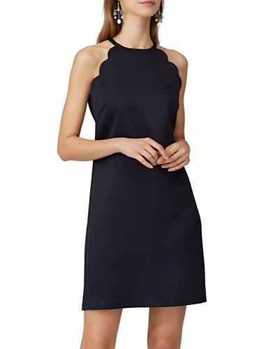 preiswerte Kleider für besondere Anlässe-Eng anliegend Halter Kurz / Mini Chiffon Kleines Schwarzes Kleid Cocktailparty Kleid mit durch LAN TING Express