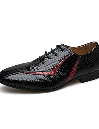 preiswerte Oxfordschuhe für Herren-Herrn Formal Schuhe PU Herbst Outdoor Gelb / Rot