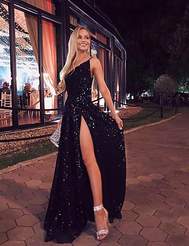 levne Maxi šaty-Dámské Pouzdro Šaty - Jednobarevné, Rozparek Maxi