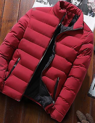 levne Pánské kabáty a parky-Pánské Jednobarevné Standardní S vycpávkou, Polyester Černá / Fialová / Světle modrá US32 / UK32 / EU40 / US34 / UK34 / EU42 / US36 / UK36 / EU44