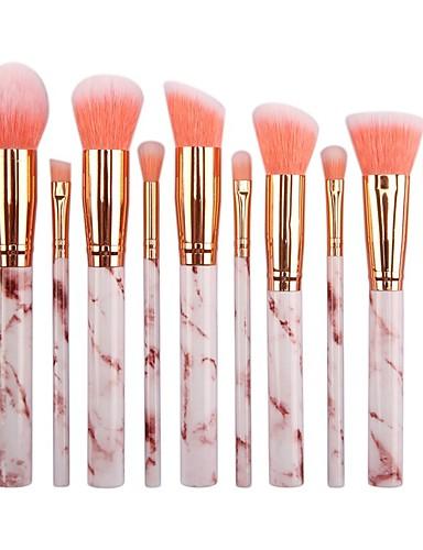 preiswerte Make-up Pinsel-Professional Makeup Bürsten 10 Stück Weich Neues Design vollständige Bedeckung lieblich Bequem Plastik zum Make-up-Set Make-up Utensilien Make-up Pinsel Rougepinsel Grundlagen Pinsel Lippenpinsel