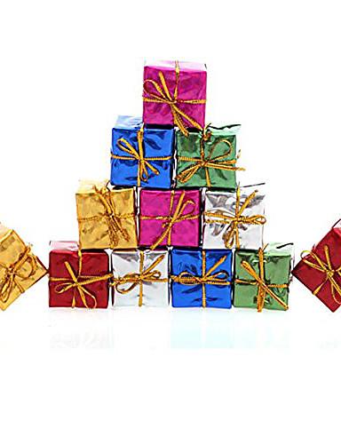 preiswerte Hängende Weihnachtsdekoration-12st Weihnachtsdekoration Geschenke Rolle ofing Weihnachtsbaum Ornamente Weihnachtsgeschenk Farbe zufällig