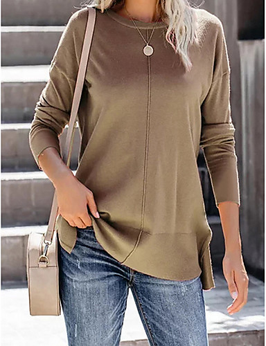 billige Dametopper-T-skjorte Dame - Ensfarget Blå