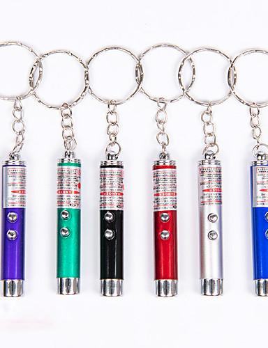preiswerte Dinge die man fürs Camping & Wandern braucht-Schlüsselanhänger Taschenlampen Mini 50 lm Laser LED 1 Sender 1 Beleuchtungsmodus 3 in 1 Mini Tragbar Camping & Wandern Angeln Klettern / Aluminium-Legierung