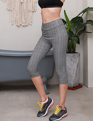 povoljno Vježbanje, fitness i joga-Žene Džep Hlače za jogu Moda Fitness Trening u teretani 3/4 Hulahopke Odjeća za rekreaciju Prozračnost Ovlaživanje Butt Lift Kontrola trbuščića Uske