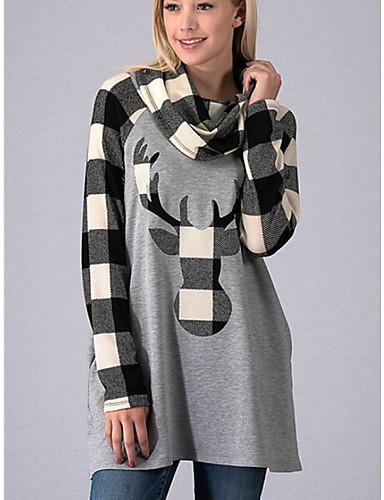 billige Dametopper-T-skjorte Dame - Ruter Hvit