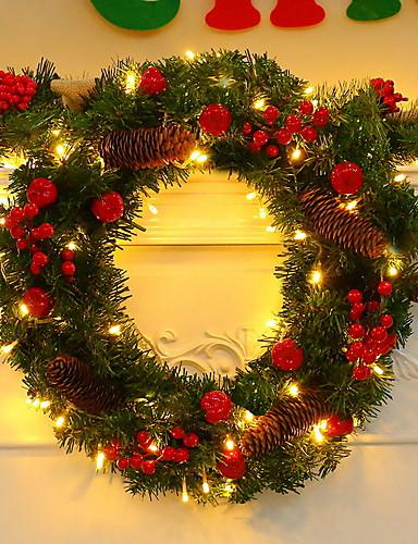 billige Juletrær & kranser-1set Dekorations Lys / Julelys Varm hvit AA batterier drevet Dekorativ / Vakker og elegant 5 V Festival / høytid / Jul